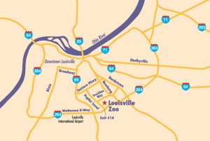 Local Map of the Louisville area