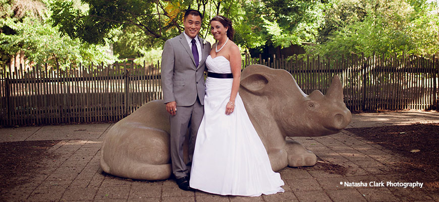 Wedding Photos at Louisville Zoo